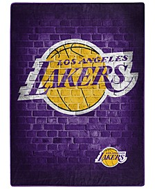 Los Angeles Lakers Raschel Throw Street Blanket