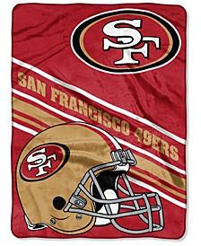San Francisco 49ers Raschel Throw Slant Blanket