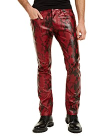 INC Men's Slim-Fit Faux Snakeskin Pants, Created For Macy's