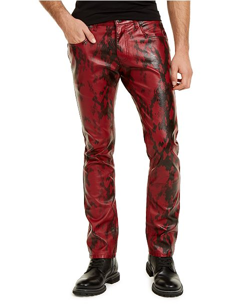 INC International Concepts INC Men's Slim-Fit Faux Snakeskin Pants, Created For Macy's