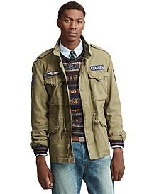 폴로 랄프로렌 Polo Ralph Lauren Mens Cotton Twill Field Jacket,Olive W/ Patches