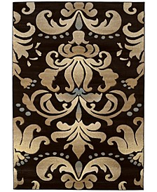 "Contours Lotus 510 24066 912 Brown 7'10"" x 10'6"" Area Rug"