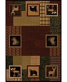 "Designer Contours Donna Sharp Corbin Square 516 29359 69 Toffee 5'3"" x 7'6"" Area Rug"