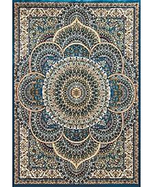 """Antiquities Sarouk 1900 01262 912 Teal 7'10"""" x 10'6"""" Area Rug"""