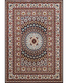 "Antiquities Jaipur 1900 01639 912 Burgundy 7'10"" x 10'6"" Area Rug"