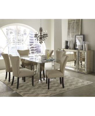 Sophia Mirrored Dining Room Furniture Collection Furniture Macys - Macys dining room sets