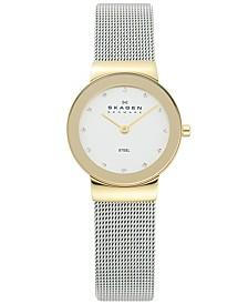 Women's Freja Two-Tone Stainless Steel Mesh Bracelet Watch 26mm