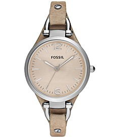 Women's Georgia Sand Leather Strap Watch 32mm ES2830