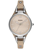 eef6f69b9 Fossil Women's Georgia Sand Leather Strap Watch 32mm ES2830