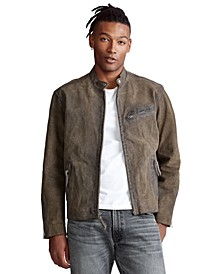 Men's Suede Café Racer Jacket
