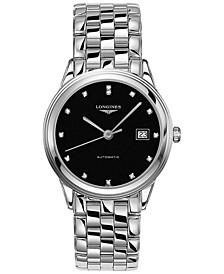 Men's Swiss Automatic Flagship Diamond (1/20 ct. t.w.) Stainless Steel Bracelet Watch 38.5mm