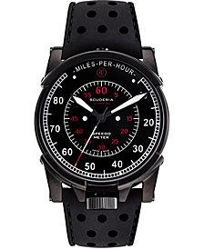CT Scuderia Men's Swiss Automatic Dashboard Black Silicone Strap Watch 44mm