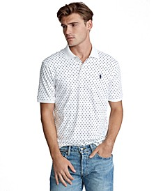 폴로 랄프로렌 Polo Ralph Lauren Mens Classic Fit Print Polo Shirt,Multi Diamond