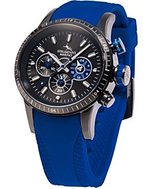Men's Missouri Professional Scuba Blue Silicone Performance Timepiece Watch 46mm