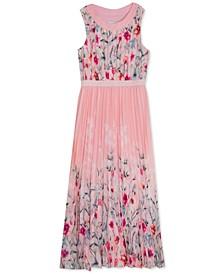 Big Girls Pleated Floral-Print Dress