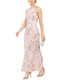 Vince Camuto Allover-Sequin Gown