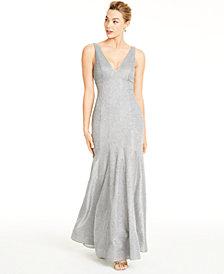 Sequin Hearts Juniors' Glitter Knit Mermaid Gown