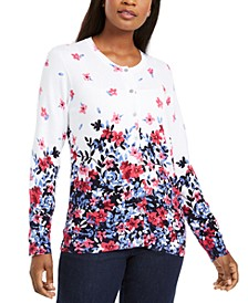 Petite Riverdale Terrace Printed Cardigan, Created for Macy's