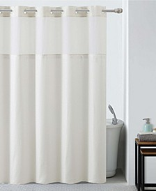 Silver Lux Shower Curtain with Peva Liner