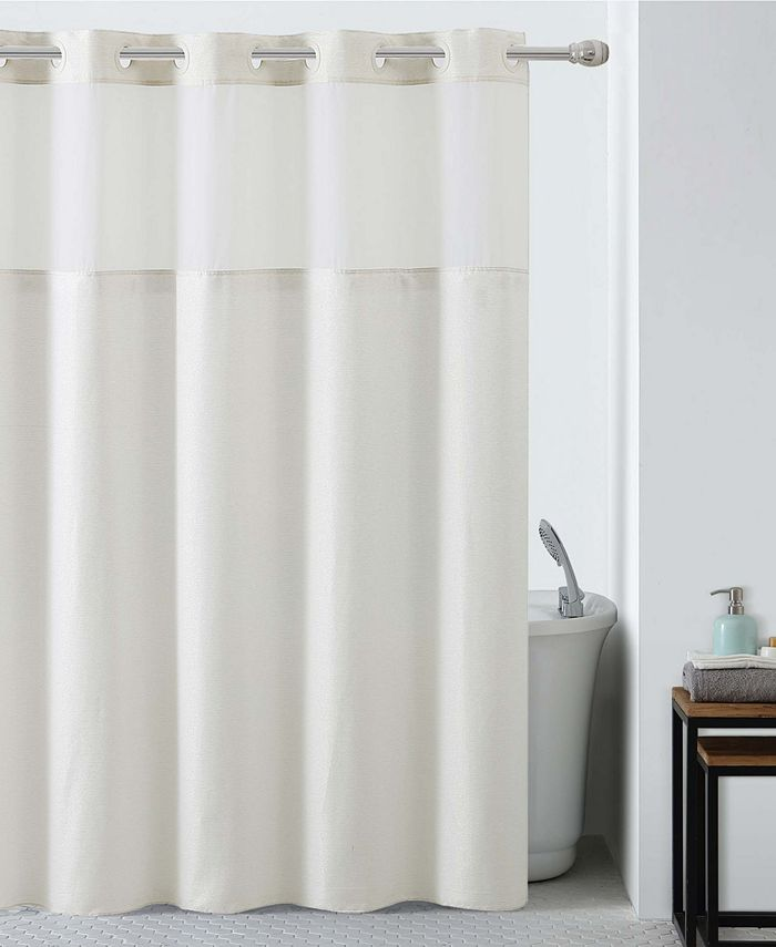 Hookless - Silver Lux Shower Curtain with Peva Liner