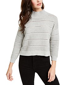 Liliya Cotton Mock-Neck Pointelle Sweater