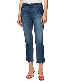 Modern Standard High-Rise Colorblocked Cropped Jeans