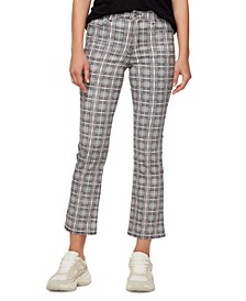 Mr Kick Cropped Plaid Jeans