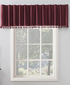 "Evelina 50"" x 17"" Faux Silk Beaded Thermal Blackout Valance"