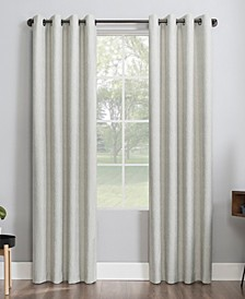 """Noir 52"""" x 96"""" Textured Thermal Blackout Curtain Panel"""