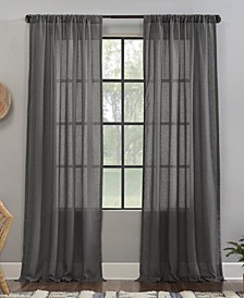 """Crushed Texture 52"""" x 63"""" Anti-Dust Sheer Curtain Panel"""