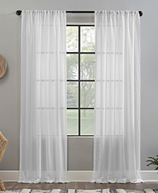 "Crushed Texture 52"" x 96"" Anti-Dust Sheer Curtain Panel"