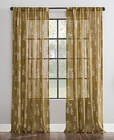 Fossilized Floral Sheer Curtain Panel Collection