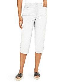 Button-Trim Cropped Pants, Created for Macy's