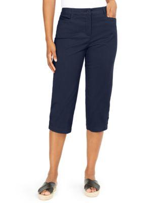 Karen Scott Pants Womens Petite XL PXL Black Pull On Knit Fleece MSRP $30