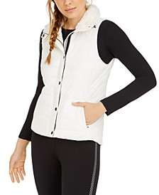 Fleece-Collar Vest