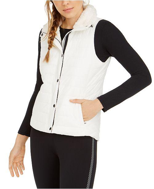 Calvin Klein Fleece-Collar Vest