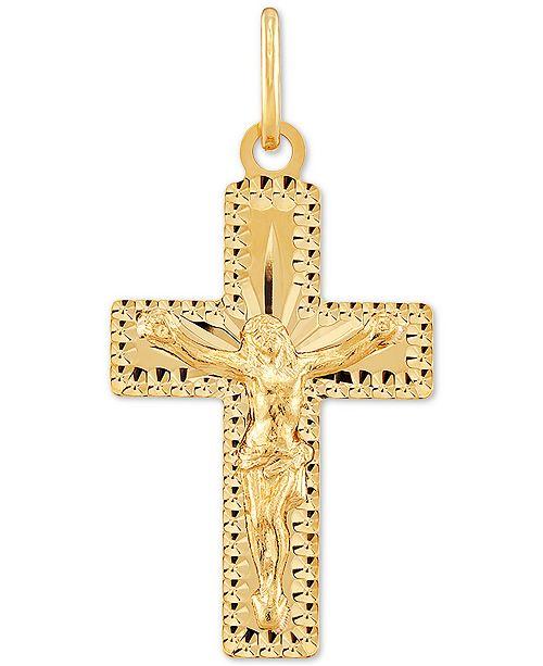 Italian Gold Crucifix Pendant in 10k Gold