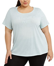 Plus Size Active Graphic T-Shirt, Created For Macy's