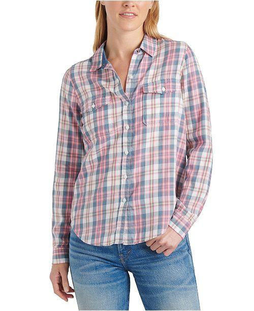 Lucky Brand Plaid Button-Down Shirt