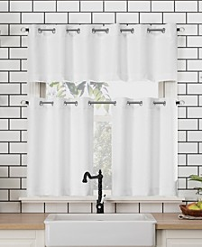 """Dylan 54"""" x 24"""" Textured Valance and Tiers Set"""