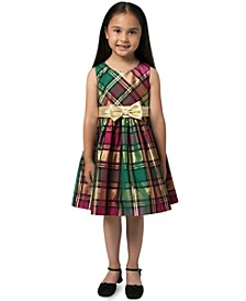 Toddler Girls Plaid Bow Dress