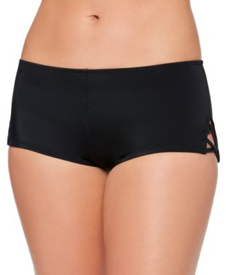 Juniors' Strappy-Side Swim Boyshorts, Created For Macy's