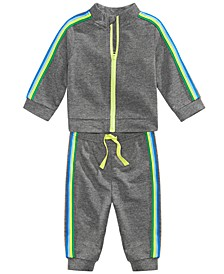 2-Pc. Baby Boys Striped Track Suit Set, Created For Macy's
