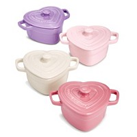 Deals on Martha Stewart Collection Set of 4 Heart Cocottes