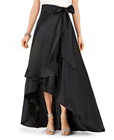 Adrianna Papell Satin High-Low Skirt