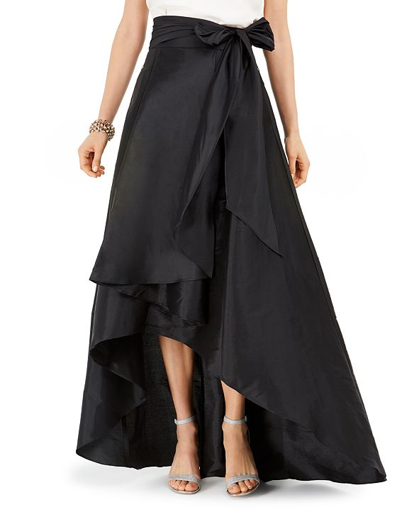 Adrianna Papell Satin High-Low Skirt