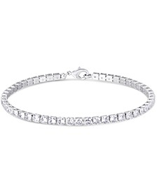 Cubic Zirconia Tennis Bracelet in Fine Silver Plate 4-7/8 ct. t.w.