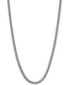 "Snake Link 30"" Chain Necklace in Sterling Silver"