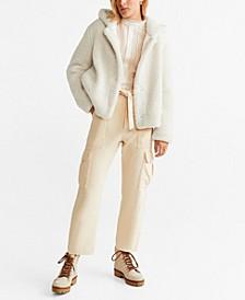 Hooded Faux Shearling Jacket