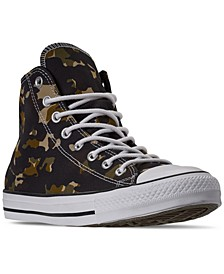 Men's Chuck Taylor All Star Camo High Top Casual Sneakers from Finish Line